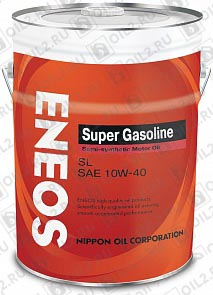 Купить ENEOS Super Gasoline SL Semi-Synthetic 10W-40 20 л.