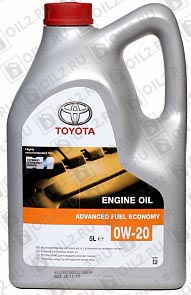 Купить TOYOTA Motor Oil 0W-20 EU Advanced Fuel Economy 5 л.