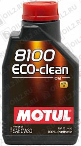 Купить MOTUL 8100 Eco-clean 0W-30 1 л.