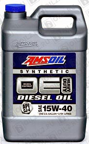 AMSOIL OE Synthetic Diesel Motor Oil 15W-40 3,785 л. фото