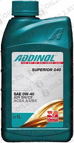 Купить ADDINOL Superior 040 SAE 0W-40 1 л.
