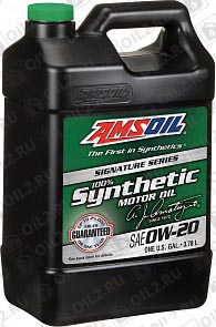 Купить AMSOIL Signature Series Synthetic Motor Oil 0W-20 3,785 л.