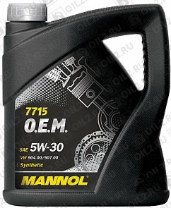 Купить MANNOL 7715 O.E.M. for VW Audi Skoda 5W-30 5 л.
