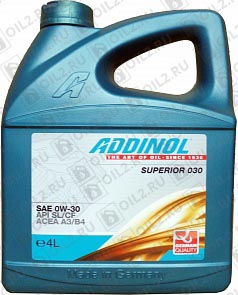 Купить ADDINOL Superior 030 SAE 0W-30 4 л.