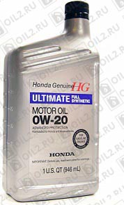 Купить HONDA Ultimate Full Synthetic 0W-20 0,946 л.