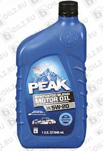 Купить PEAK Synthetic Blend Motor Oil 5W-20 0,946 л.