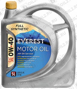 Купить EVEREST Full Synthetic 0W-40 4 л.