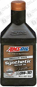 AMSOIL Signature Series Synthetic Motor Oil 0W-30 0,946 л. фото