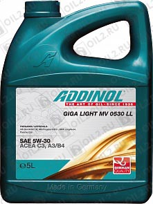 Купить ADDINOL Giga Light MV 0530 LL 5W-30 5 л.