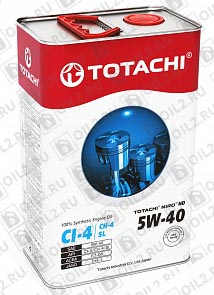 Купить TOTACHI NIRO HD Synthetic 5W-40 4 л.