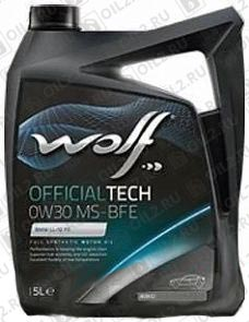 Купить WOLF Official Tech 0W-30 MS-BFE 5 л.