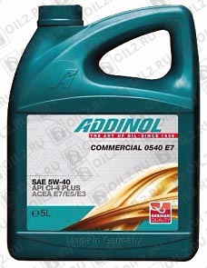 Купить ADDINOL Commercial 0540 Е7 5W-40 5 л.