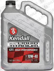 Купить KENDALL GT-1 High Performance Motor Oil with Liquid Titanium 10W-40 3,785 л.