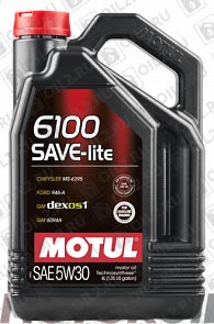 Купить MOTUL 6100 Save-Lite 5W-30 4 л.