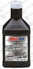 Купить AMSOIL Signature Series Synthetic Motor Oil 5W-50 0,946 л.