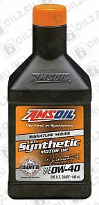 AMSOIL Signature Series Synthetic Motor Oil 0W-40 0,946 л.