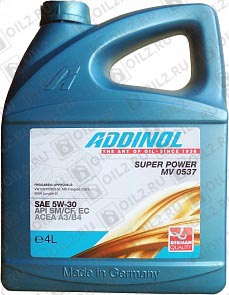Купить ADDINOL Super Power MV 0537 SAE 5W-30 4 л.