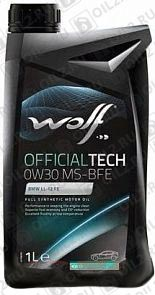 Купить WOLF Official Tech 0W-30 MS-BFE 1 л.