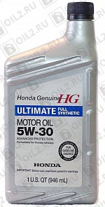 Купить HONDA Ultimate Full Synthetic 5W-30 SN 0,946 л.