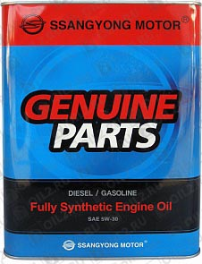 Купить SSANGYONG Diesel/Gasoline Fully Synthetic Engine Oil 5W-30 4 л.