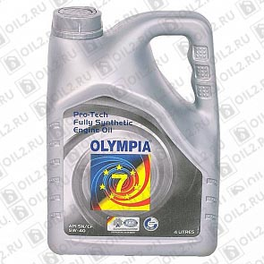 Купить OLYMPIA Pro-Tech Fully Synthetic Engine Oil SAE 5W-40 4 л.