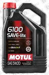 Купить MOTUL 6100 Save-Lite 5W-20 4 л.