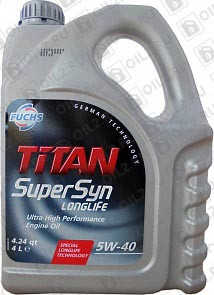 Купить FUCHS Titan Supersyn Longlife 5W-40 4 л.