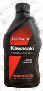 Купить KAWASAKI Performance Oils 4-Stroke Engine Oil Motocycle 20W-50 0,946 л.