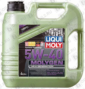 Купить LIQUI MOLY Molygen New Generation 5W-40 4 л.