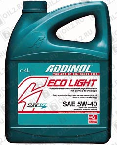 Купить ADDINOL ECO Light 5W-40 4 л.
