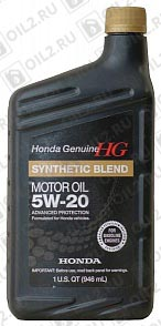 Купить HONDA Synthetic Blend 5W-20 SN 0,946 л.