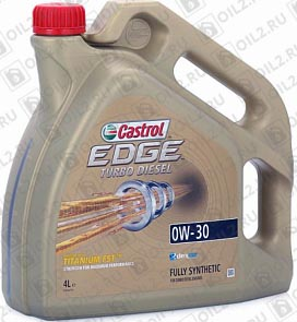 Купить CASTROL Edge Turbo Diesel 0W-30 4 л.