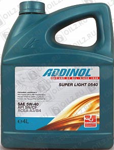 Купить ADDINOL Super Light 0540 SAE 5W-40 4 л.