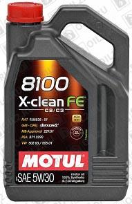 Купить MOTUL 8100 X-clean FE 5W-30 5 л.