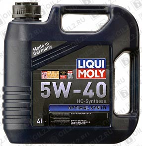 Купить LIQUI MOLY Optimal Synth 5W-40 4 л.