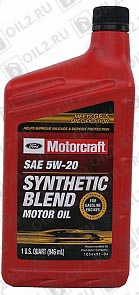 Купить FORD Motorcraft Premium Synthetic Blend 5W-20 0,946 л.