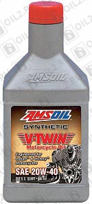 Купить AMSOIL V-Twin Synthetic Motorcycle Oil 20W-40 0,946 л.