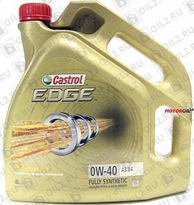 Купить CASTROL Edge 0W-40 A3/B4 4 л.