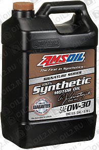 Купить AMSOIL Signature Series Synthetic Motor Oil 0W-30 3,785 л.