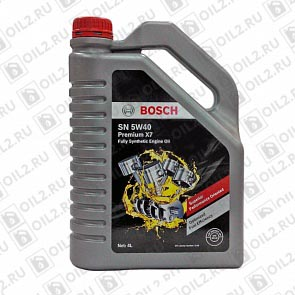 Купить BOSCH Premium X7 Fully Synthetic Engine Oil SN SAE 5W-40 4 л.